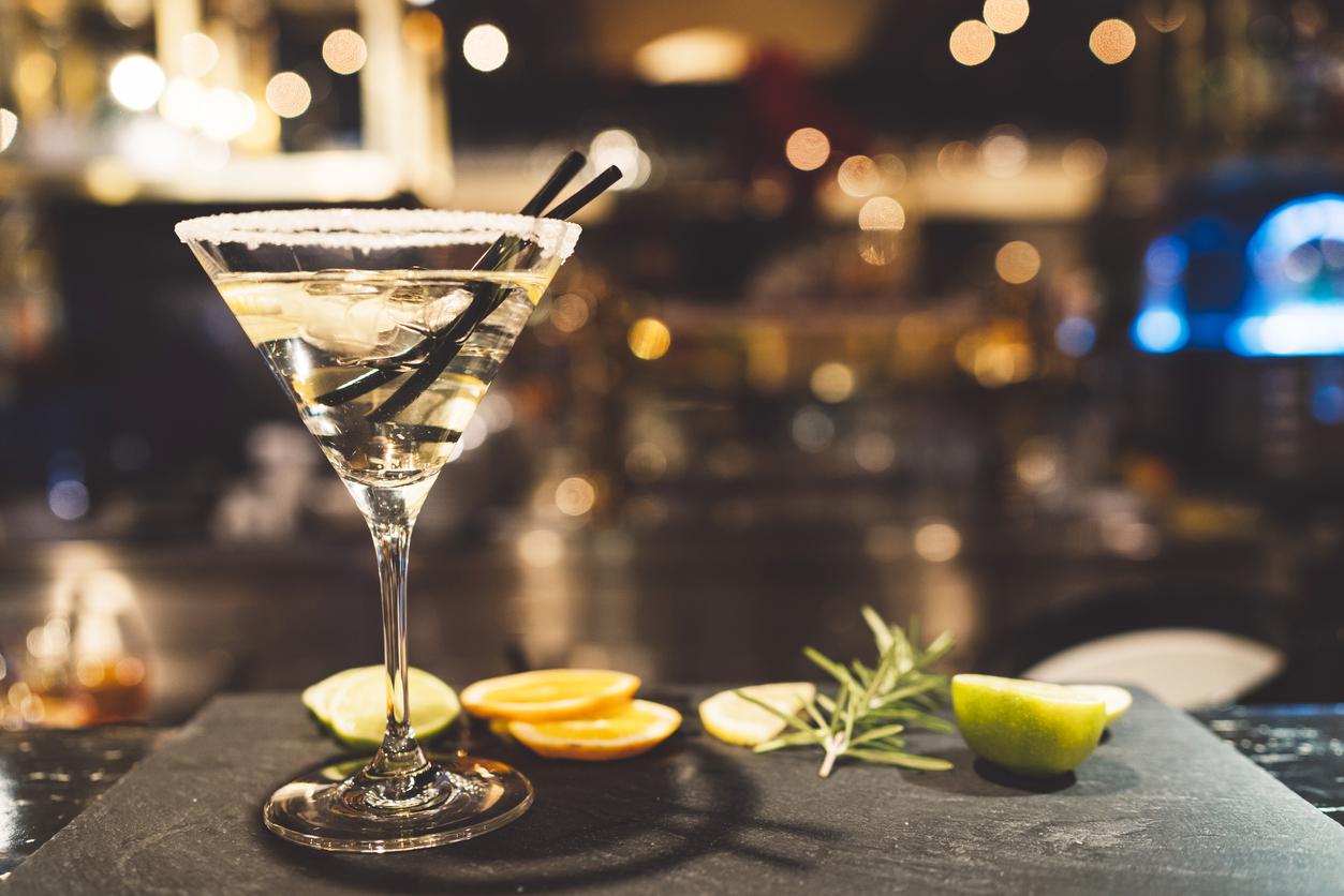 Stylish martini