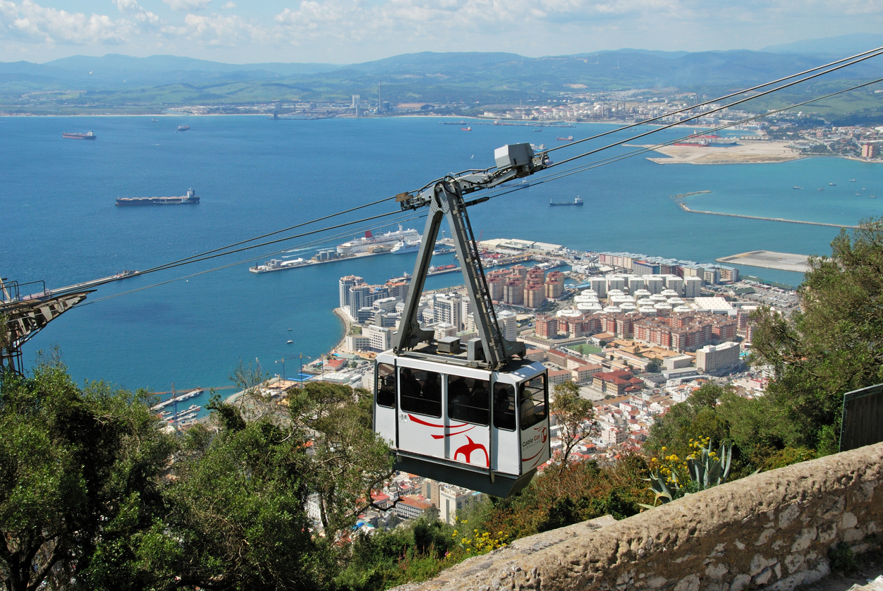 Cable car with sea views, Gibraltar