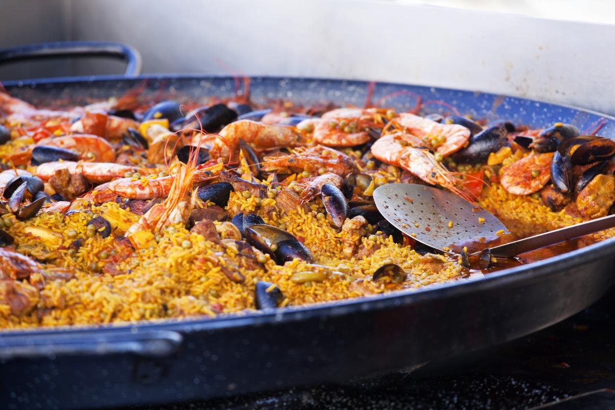 Paella at the Food Market