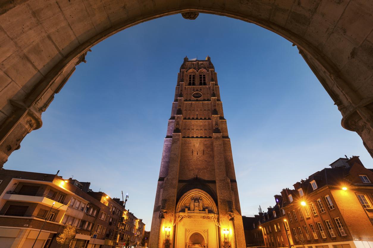 Belfry of St Eloi Church in Dunkirk