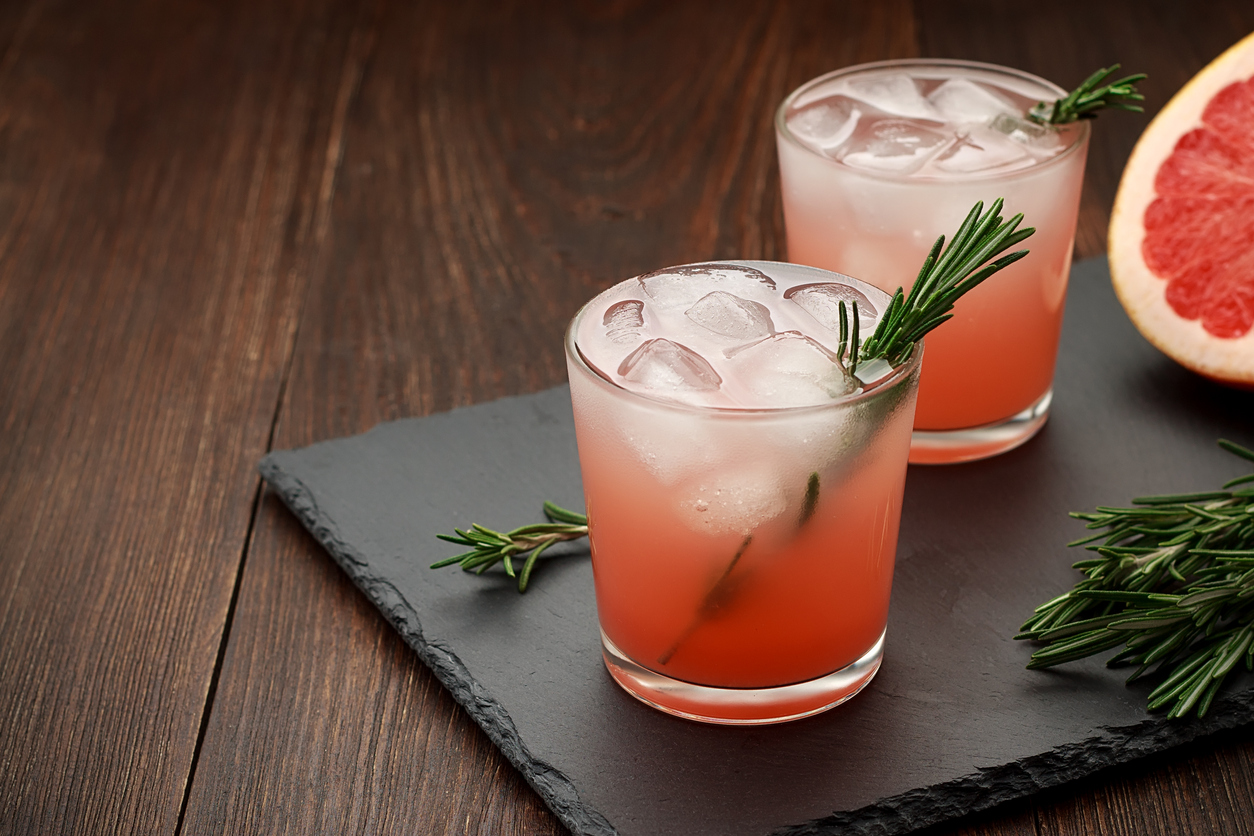 Vodka grapefruit julep