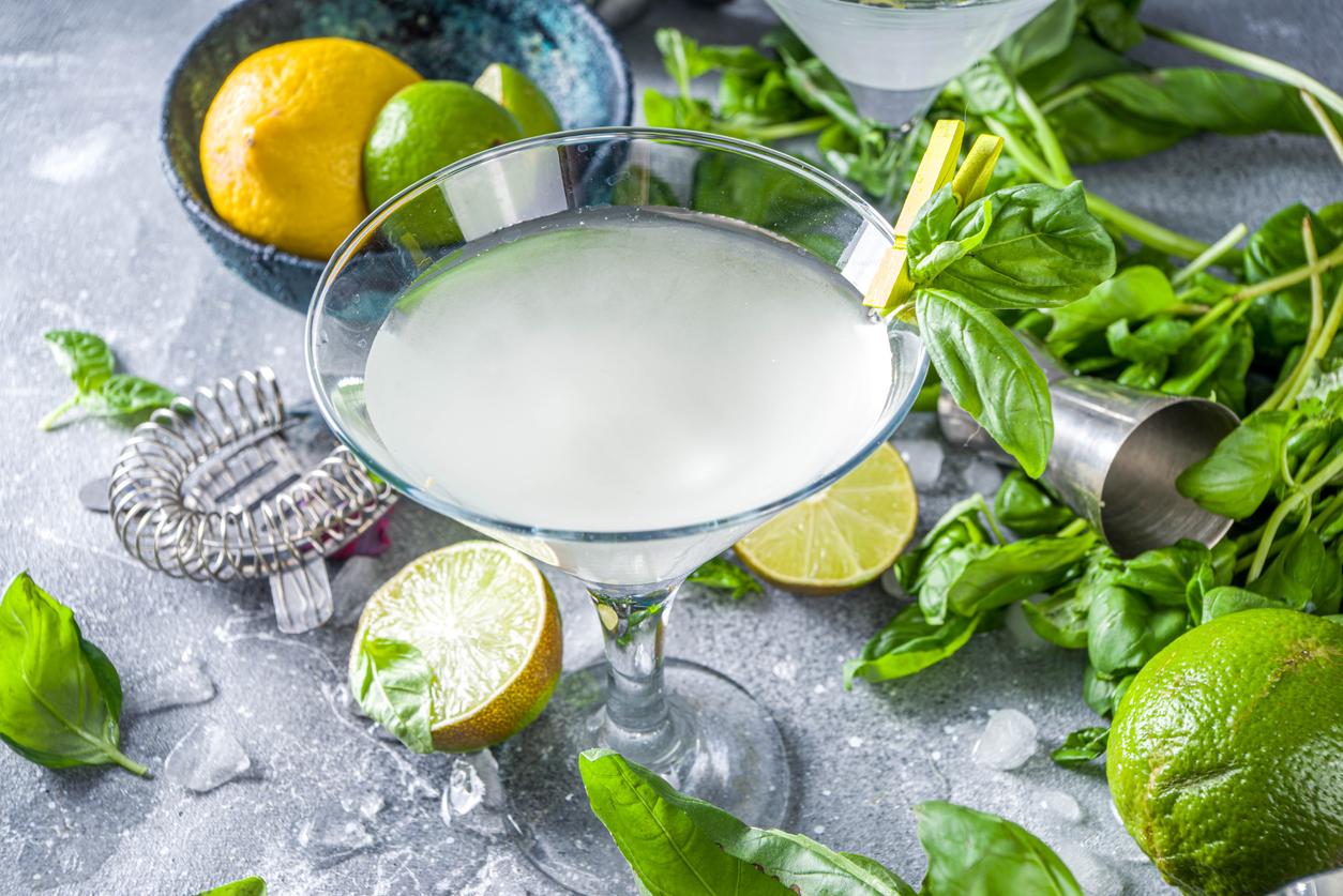 Basil vodka