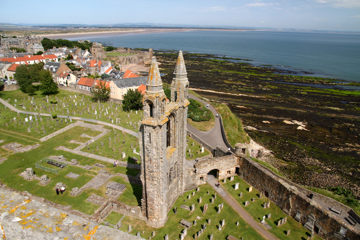 View of St Andrews cathedral from the tower I