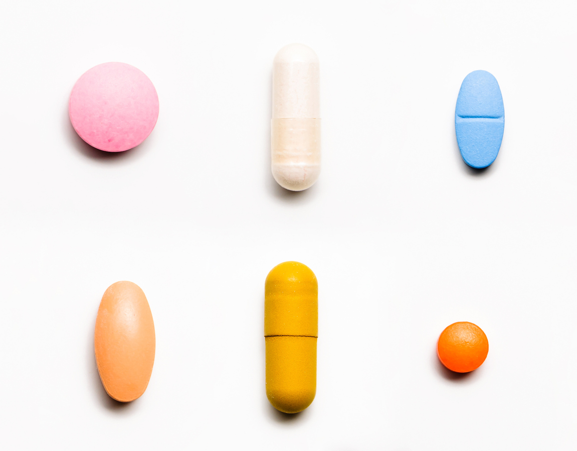 Rowed vitamins and pills