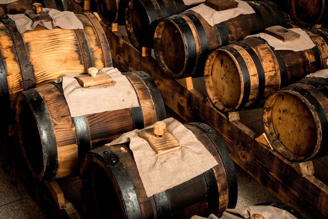 Modena balsamic vinegar vats