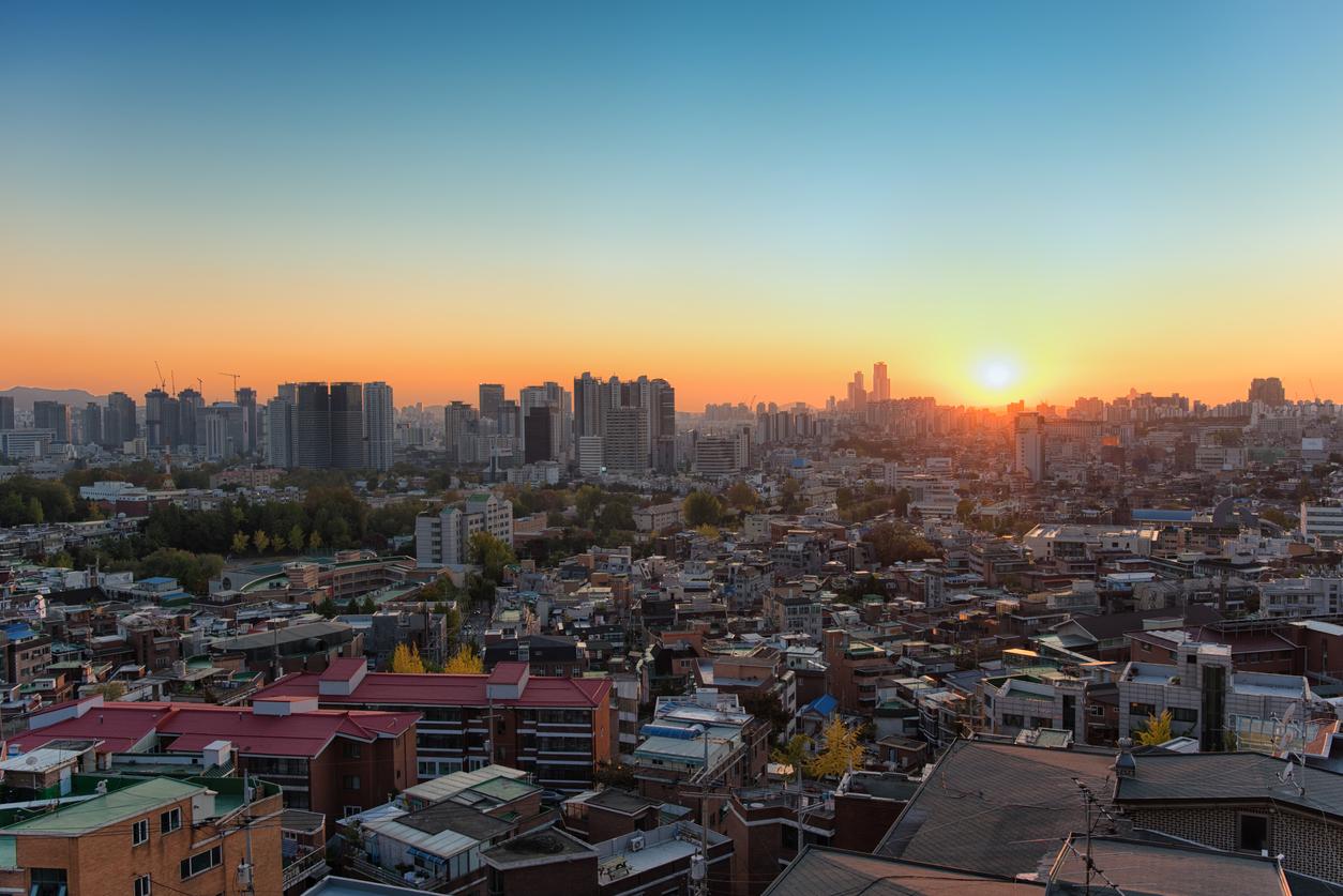 Seoul Yongsan at Sunset