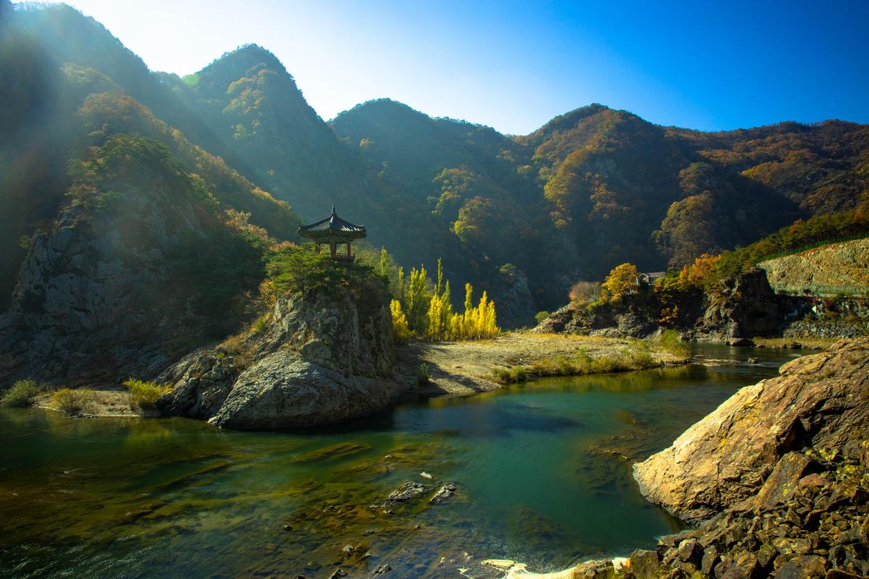 Morning view in Wollyubong, South Korea