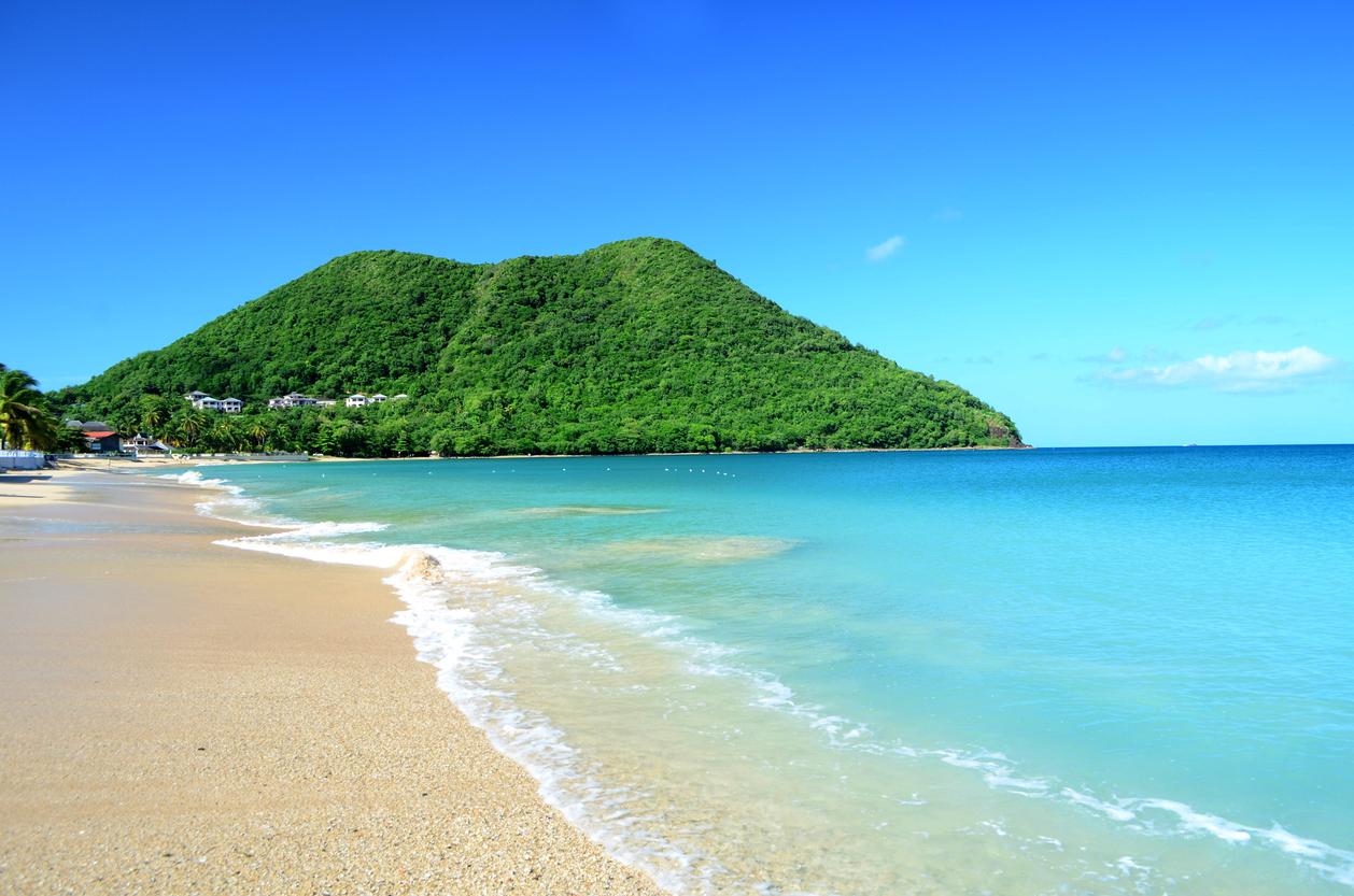 St Lucia, Caribbean beach