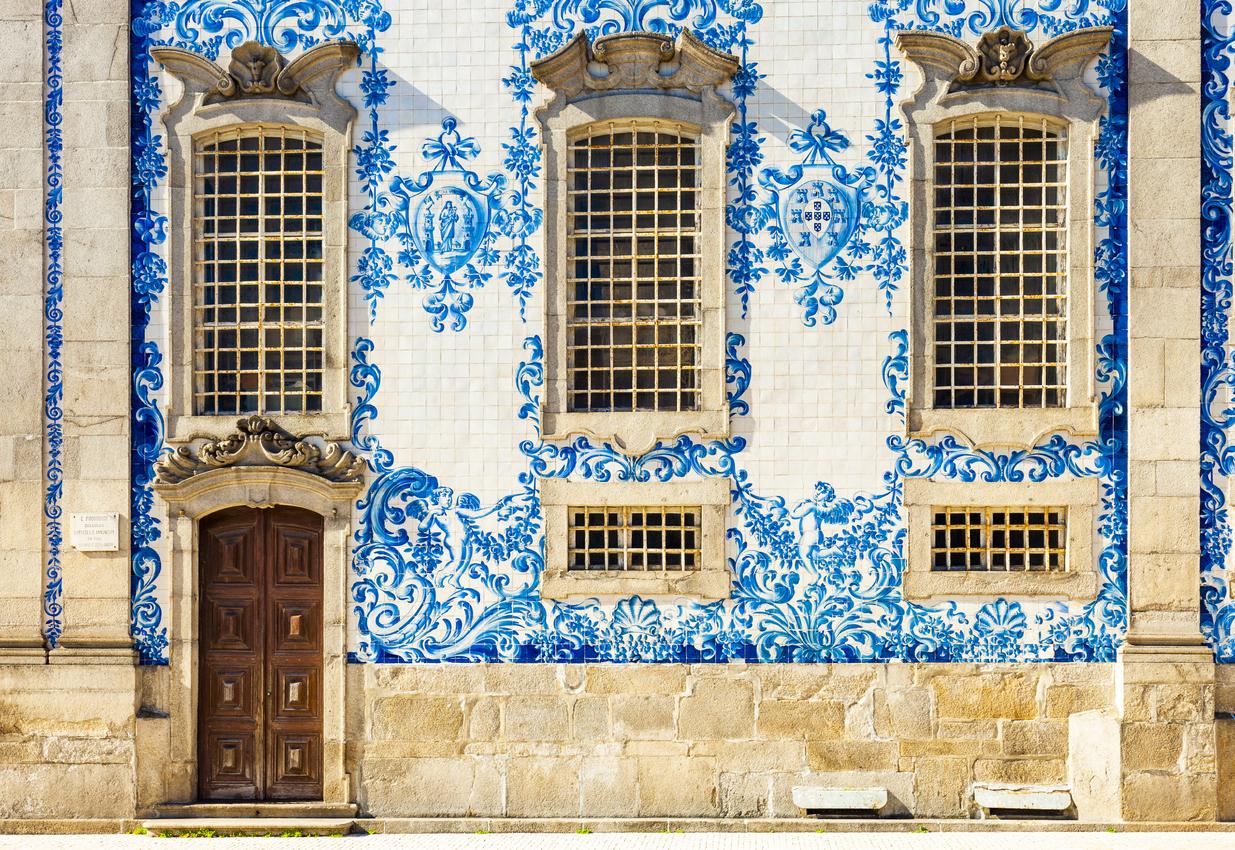 Tile Wall From The Igreja Do Carmo (Carmo Church) In Porto, Portugal
