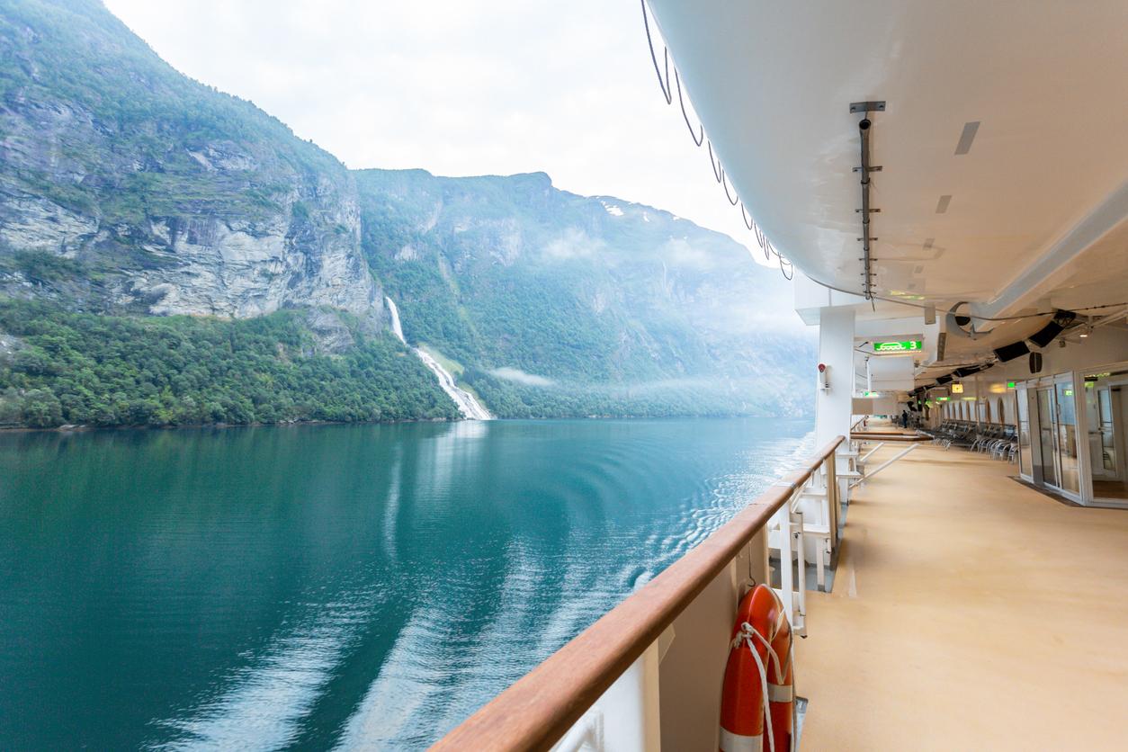 Norwegian fjord view
