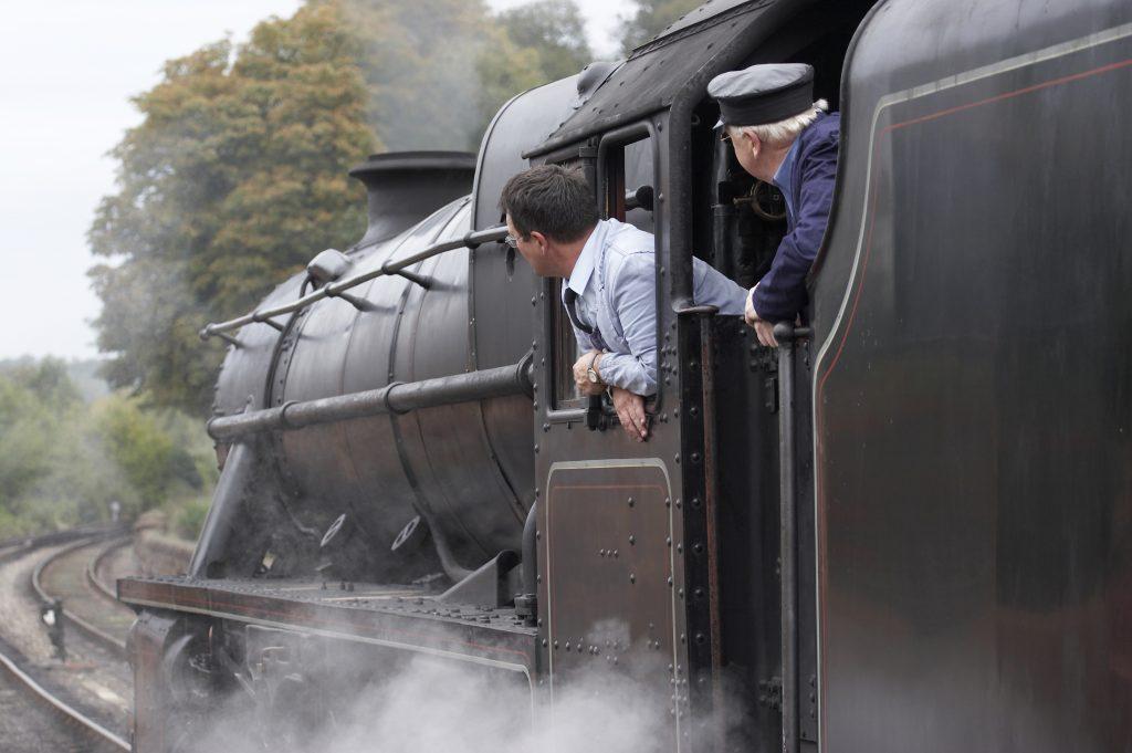 Steam engine at Bewdley Station