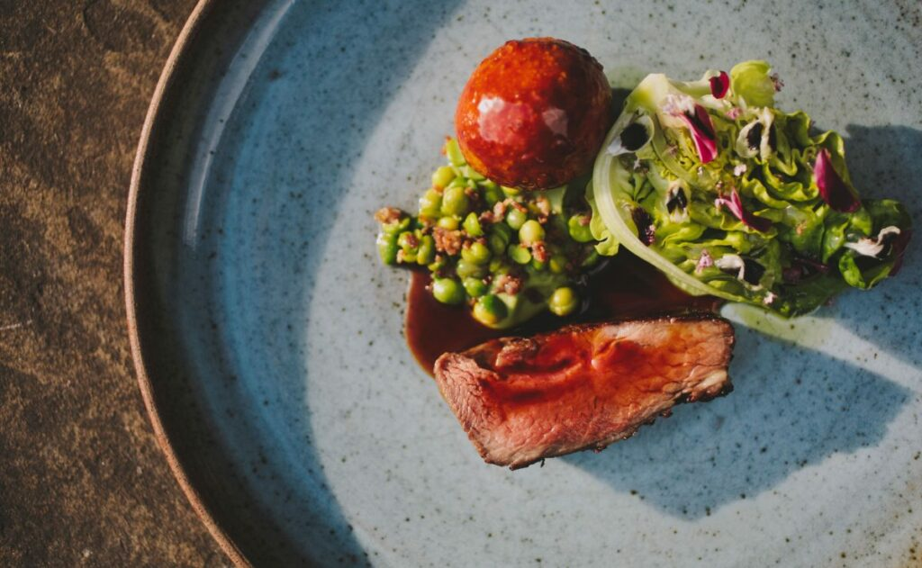 Local and seasonal produce brings the Michelin starred Peel's menu to life.