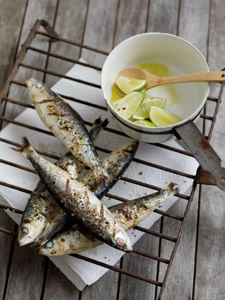 Salt bath sardines