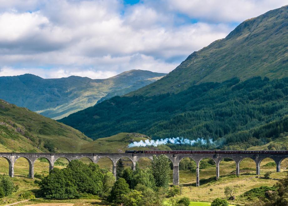 Glenfinnan viaduct West Highland railway